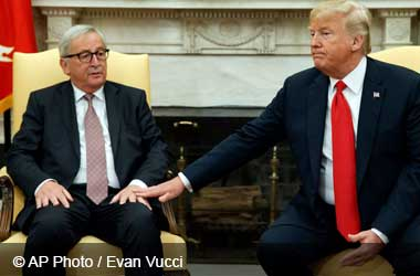 European Commission chief Jean-Claude Juncker and President Donald Trump